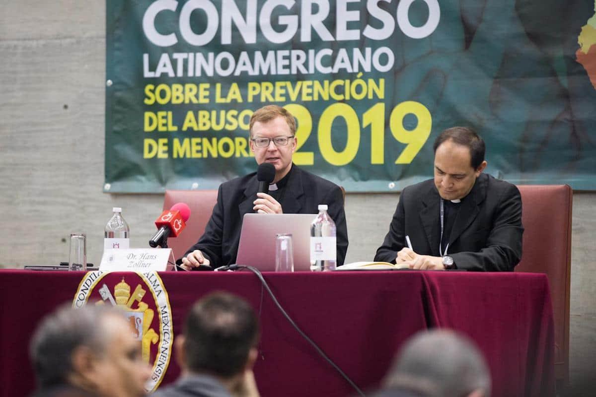 El padre Hans Zollner en el Congreso Latinoamericano sobre la Prevención del Abuso de Menores. Foto: María Langarica