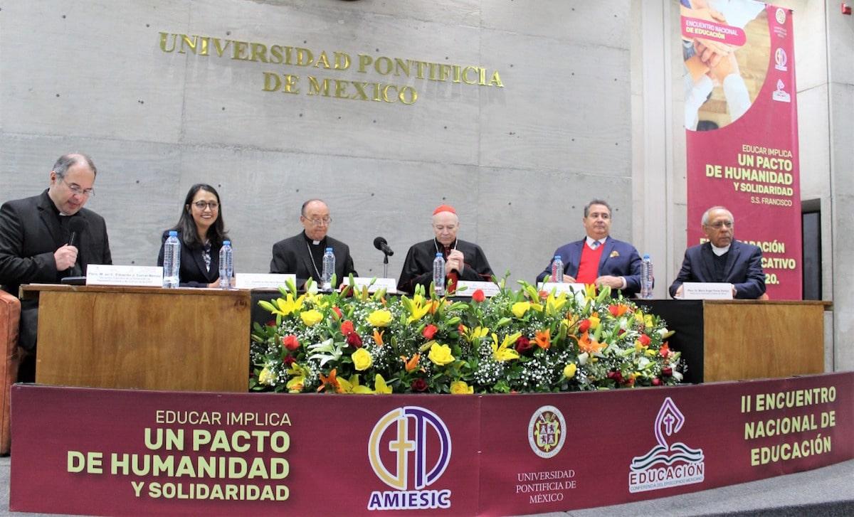 El Encuentro Nacional de Educación. Foto: Universidad Pontificia de México