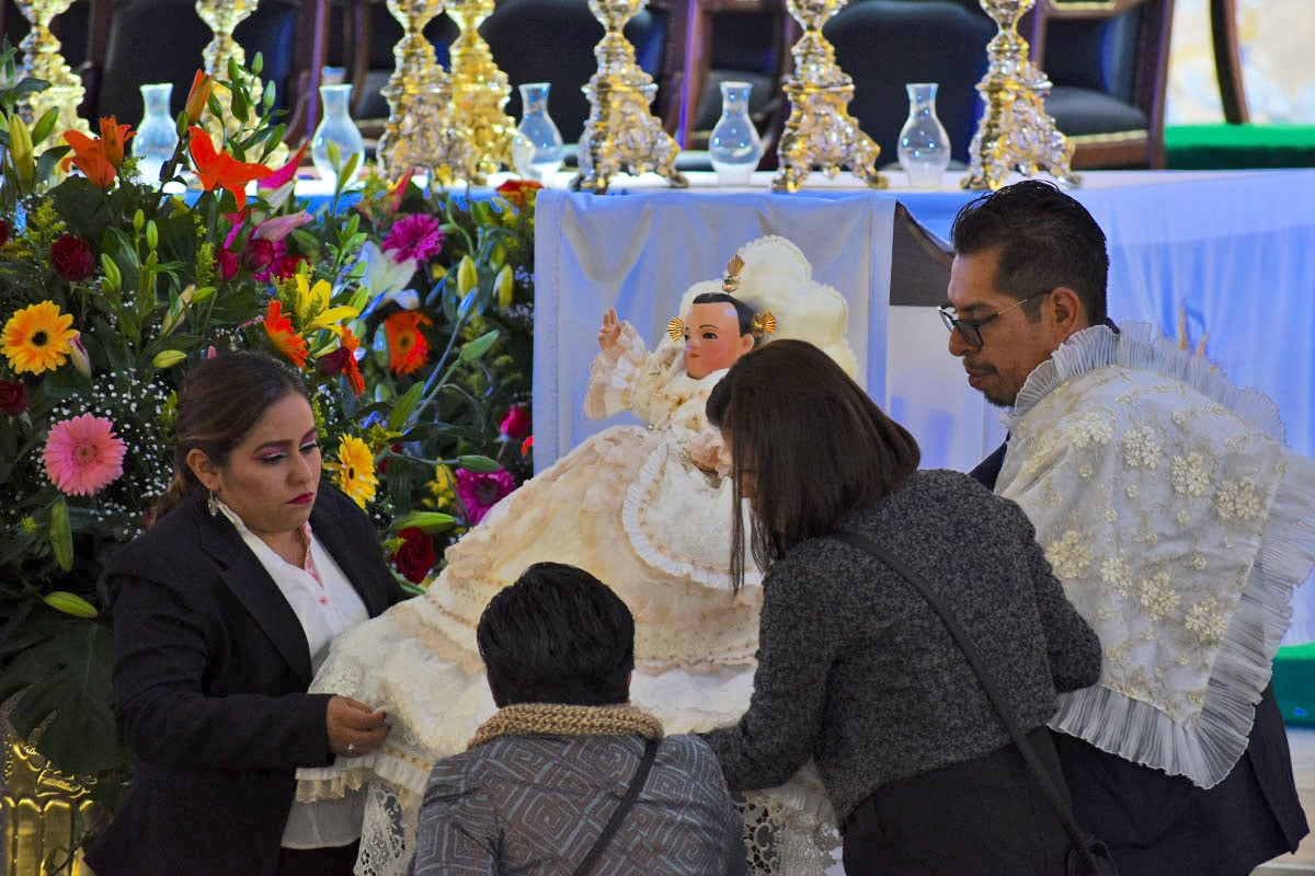 El Niñopa, una de las imágenes más veneradas de Xochimilco. Foto: Ricardo Sánchez