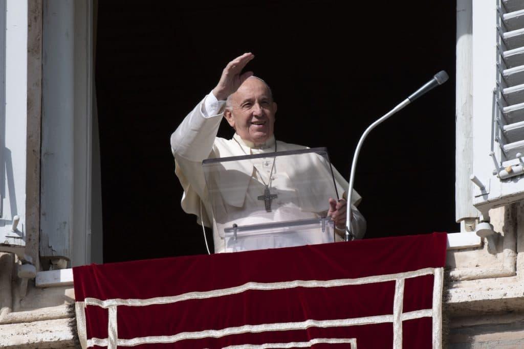 El Papa Francisco durante el Angelus. Foto: L'Osservatore Romano