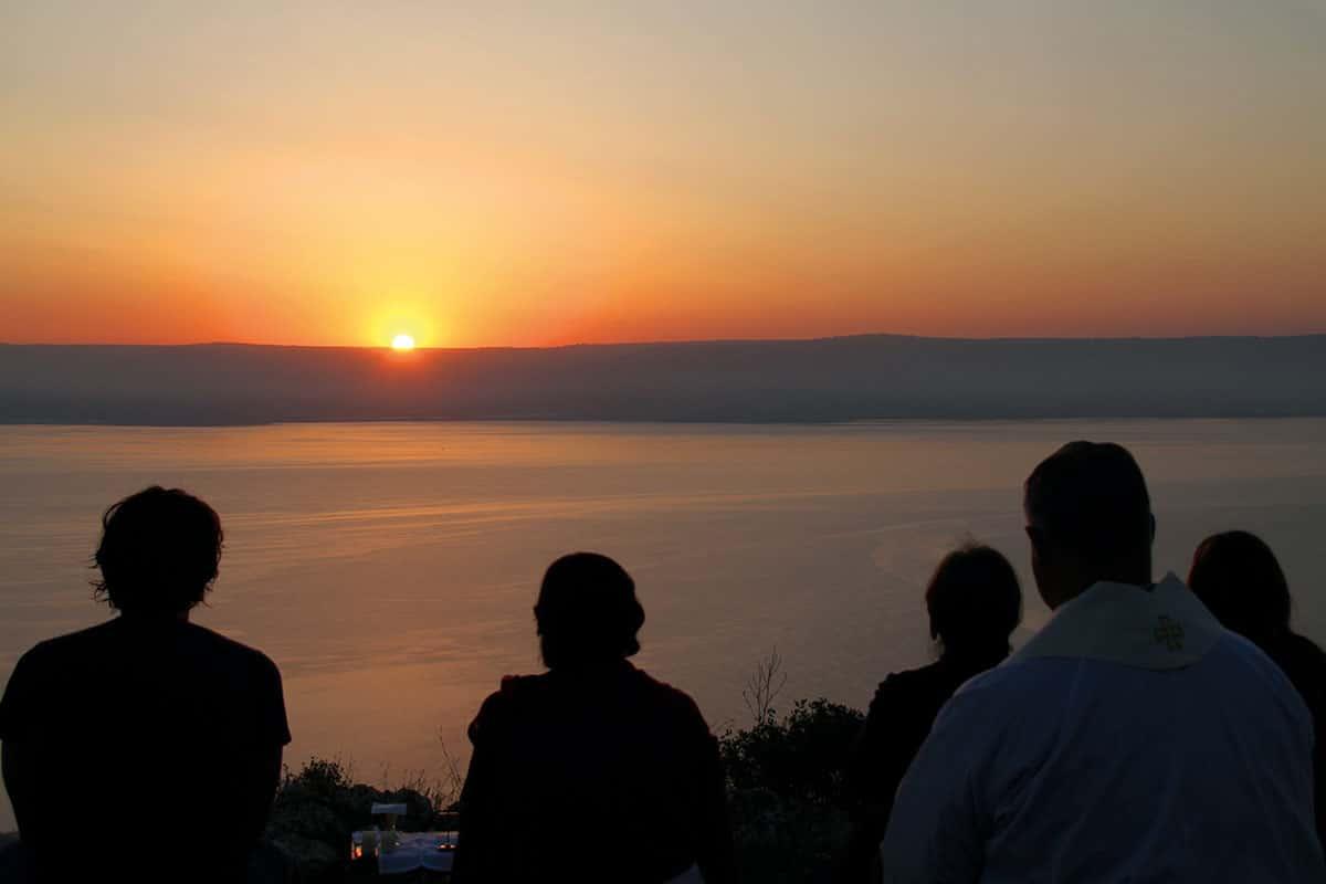 Atardecer en el Mar de Galilea.