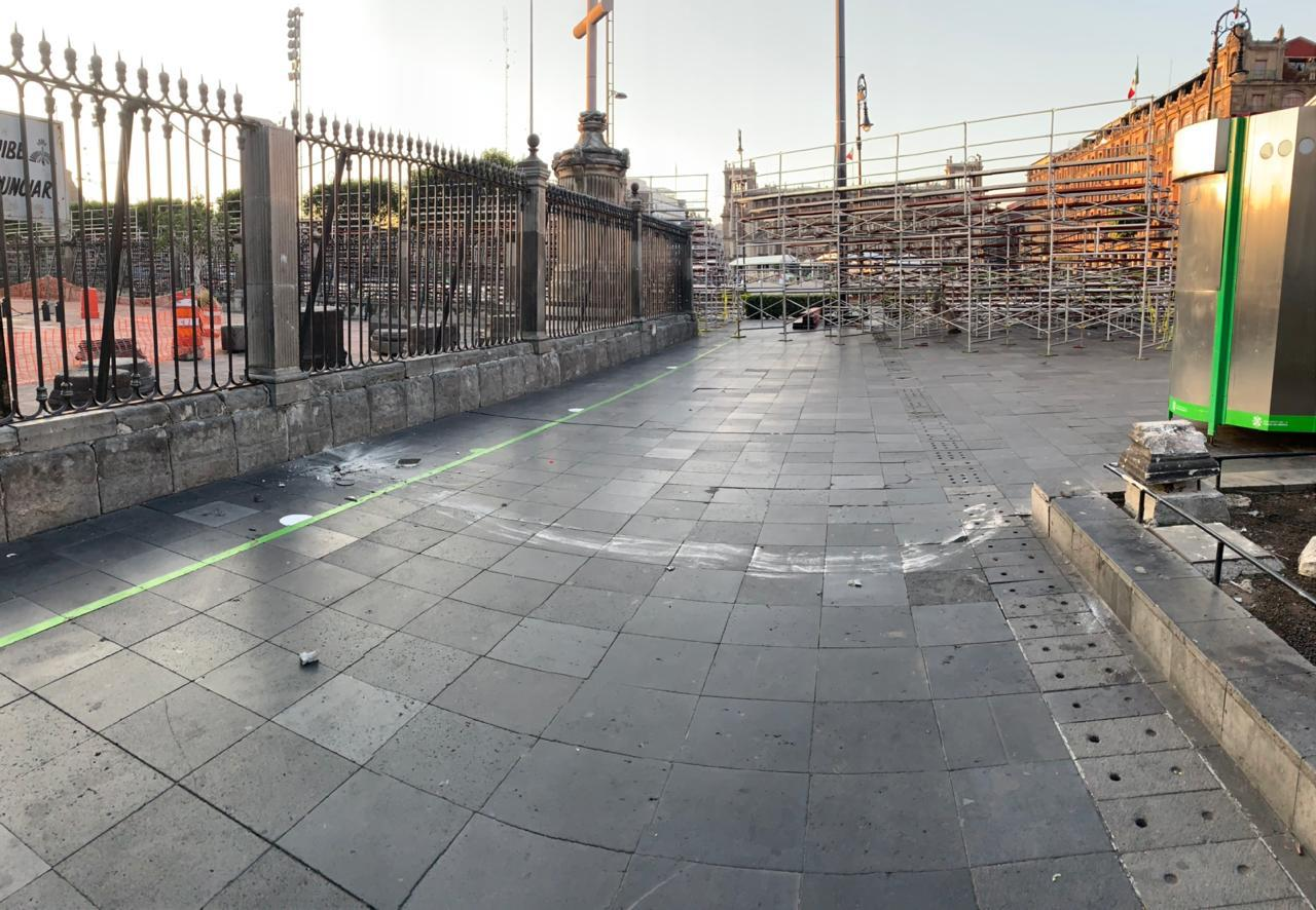 Reja dañada de la Catedral Metropolitana. Foto: Cortesía Catedral