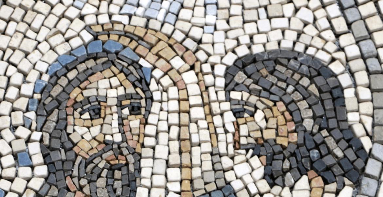 Detalle del Mapa de Galilea en Magdala