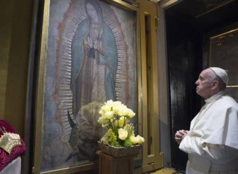 """""""¡Que nuestra Madre de Guadalupe nos acompañe!"""": Papa Francisco"""