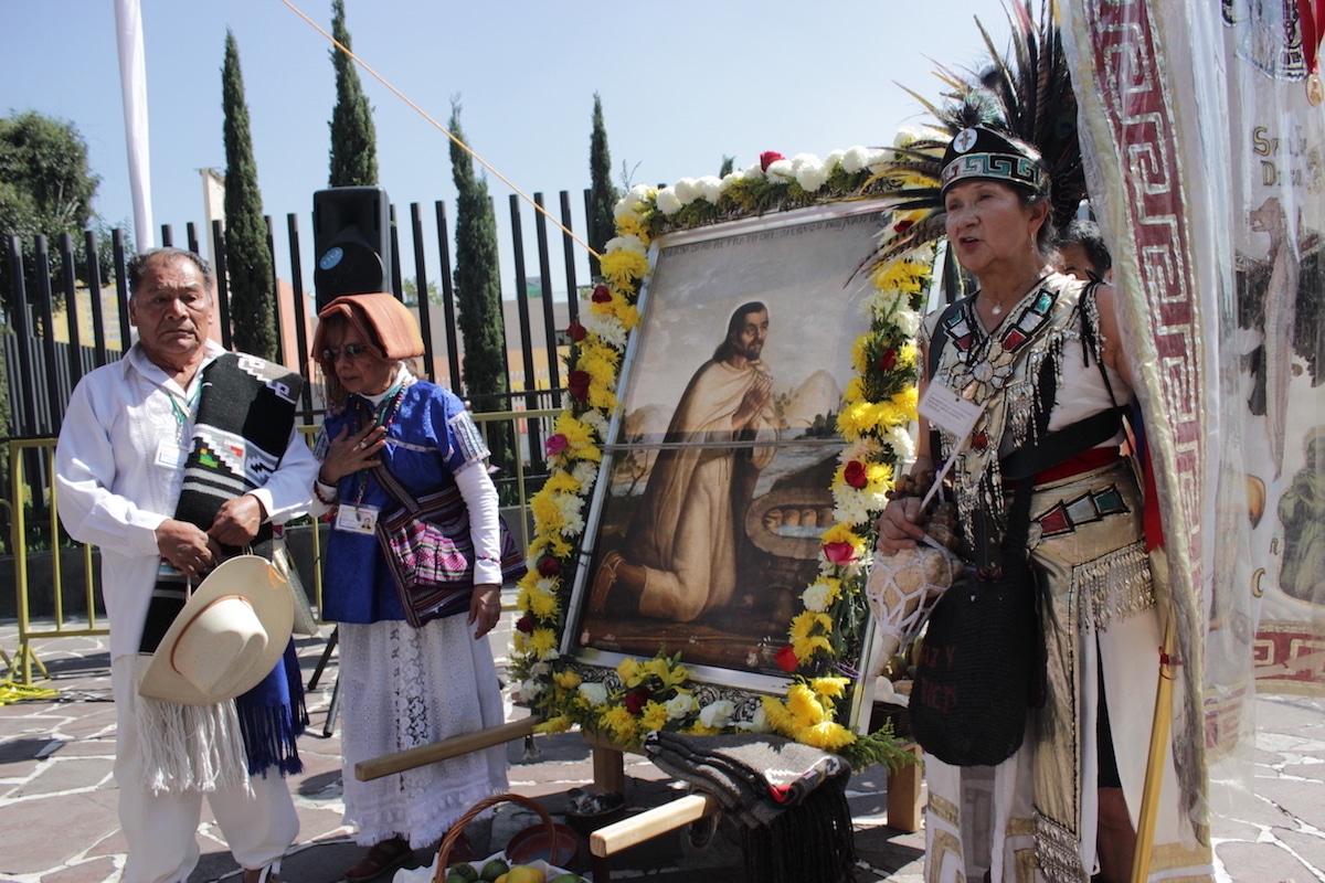 Antigua Capilla de Indios celebra a san Juan Diego.