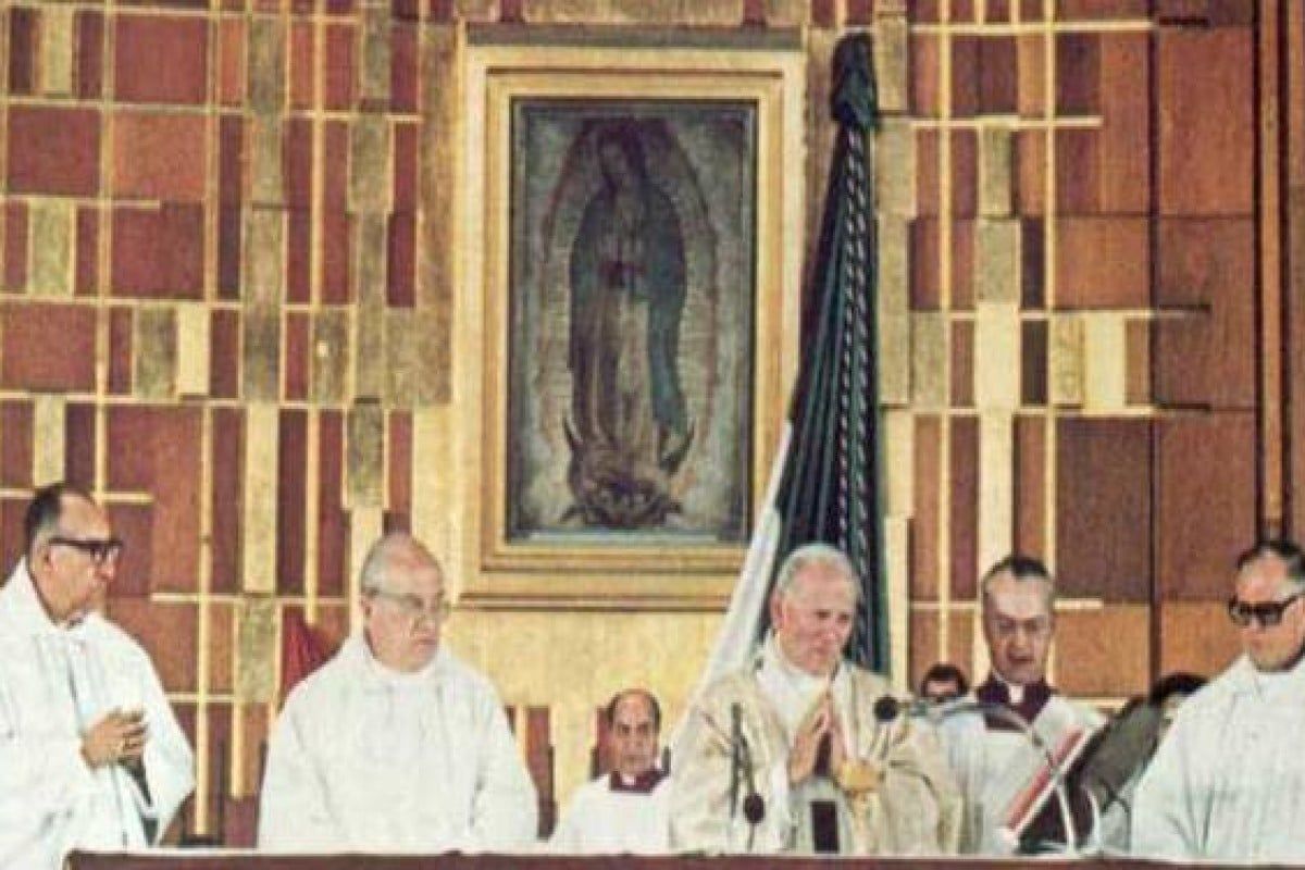 El Papa Juan Pablo II en la Basílica de Guadalupe