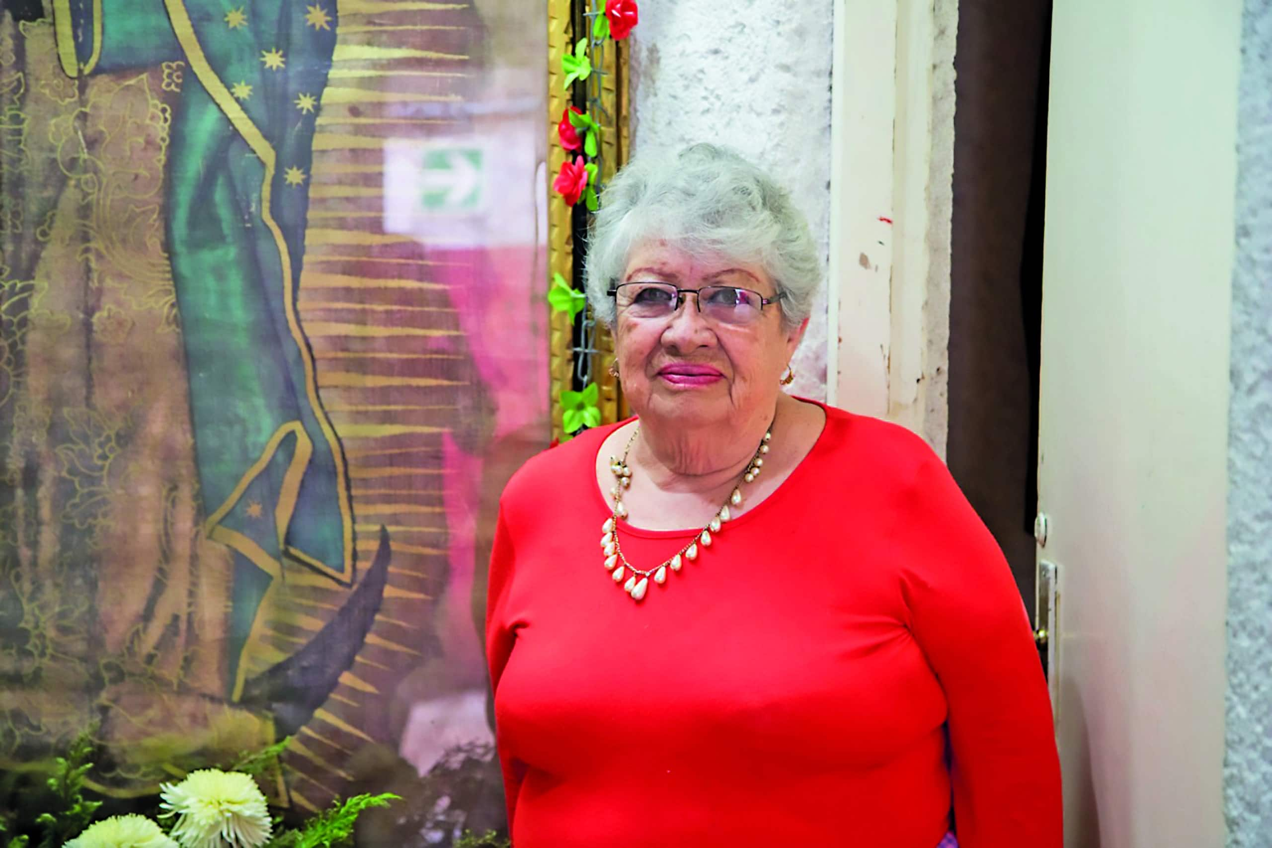 Irma Morales, Encargada de la capilla de la Plaza de Toros México. Foto: María Langarica