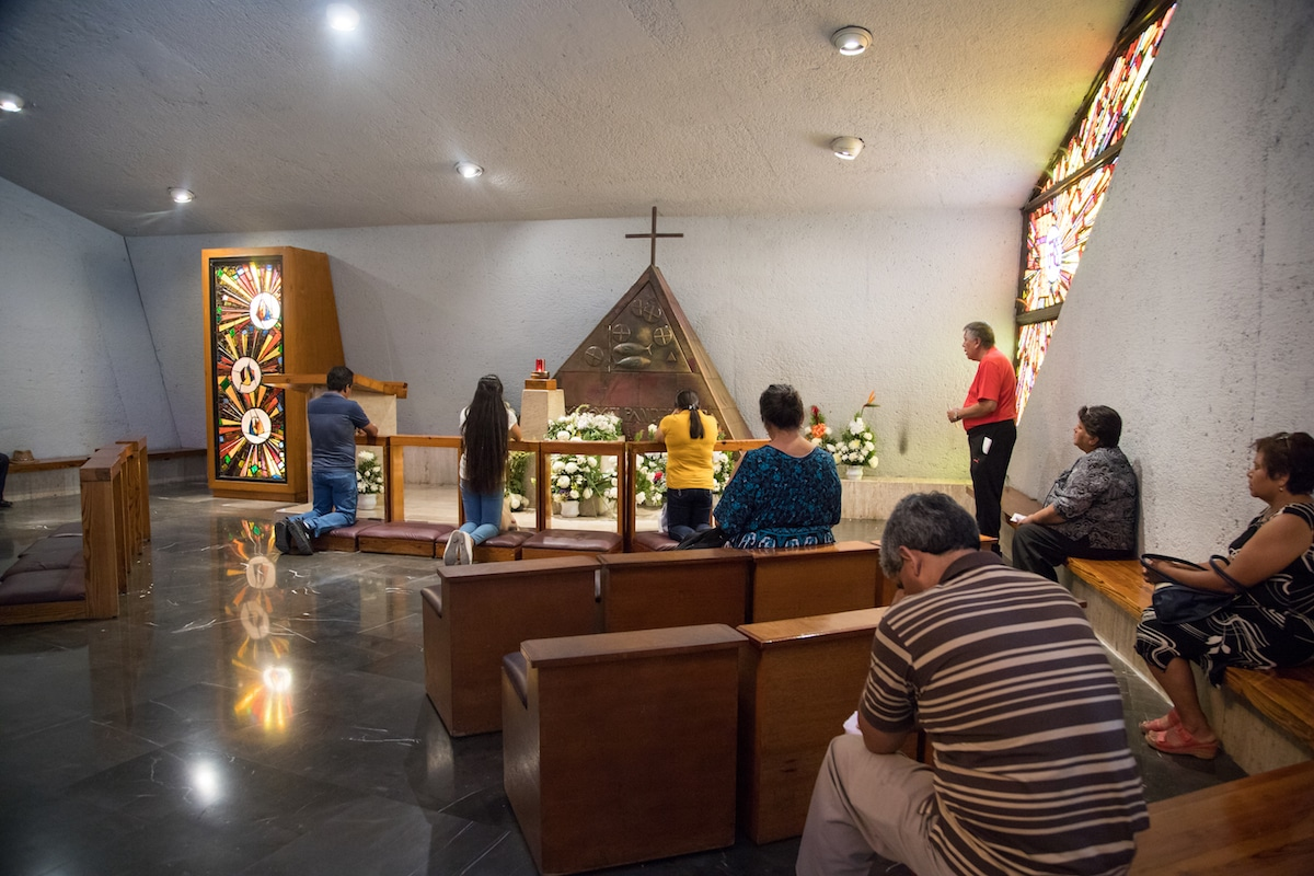 Interior de la Basílica de Guadalupe en Monterrey. Foto: María Langarica
