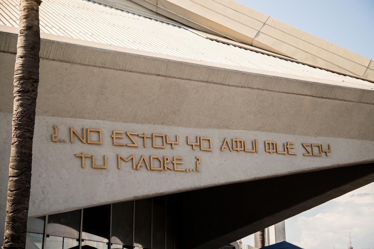 Grabado con tipografía de Fray Gabriel Chávez de la Mora. Foto: María Langarica