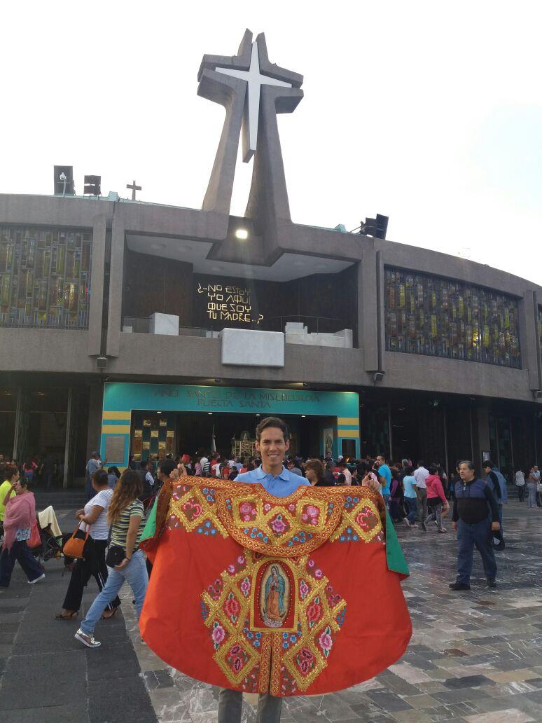 Diego Silveti en la Basílica de Guadalupe. Foto: Cortesía
