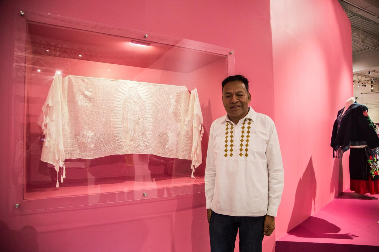 Gildardo Herández, tejedor crochet de Oaxaca. Foto: María Langarica