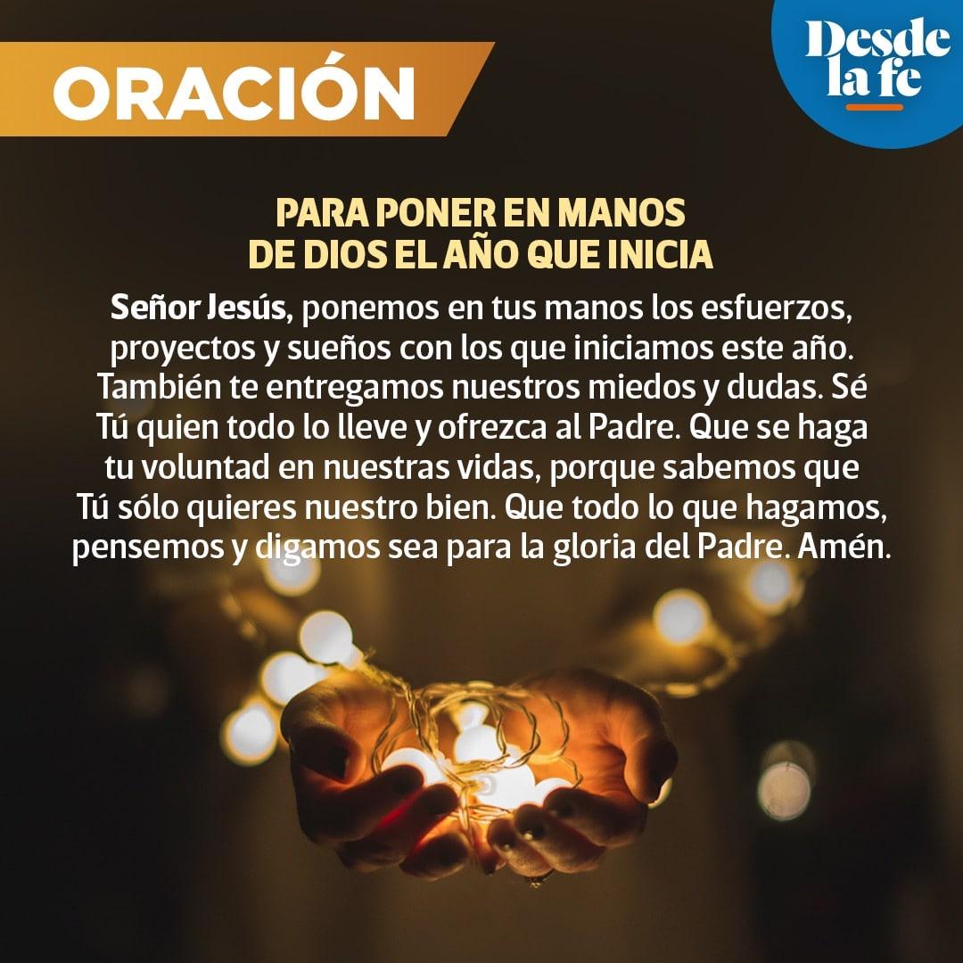 Oración para poner en manos de Dios el Año que nuevo