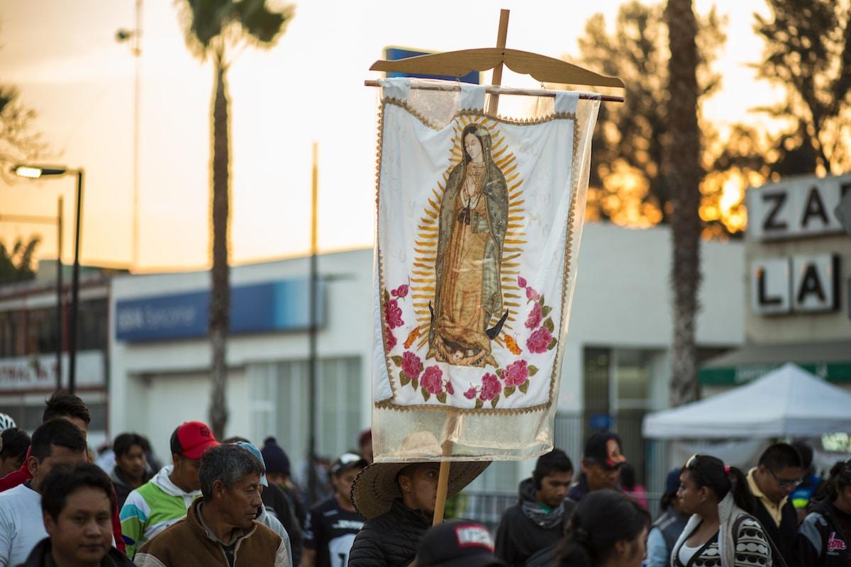 Estandarte de la Virgen de Guadalupe. Foto: María Langarica