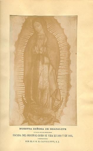 Portada del libro Historia de la aparición de la Santísima Virgen de Guadalupe en México.