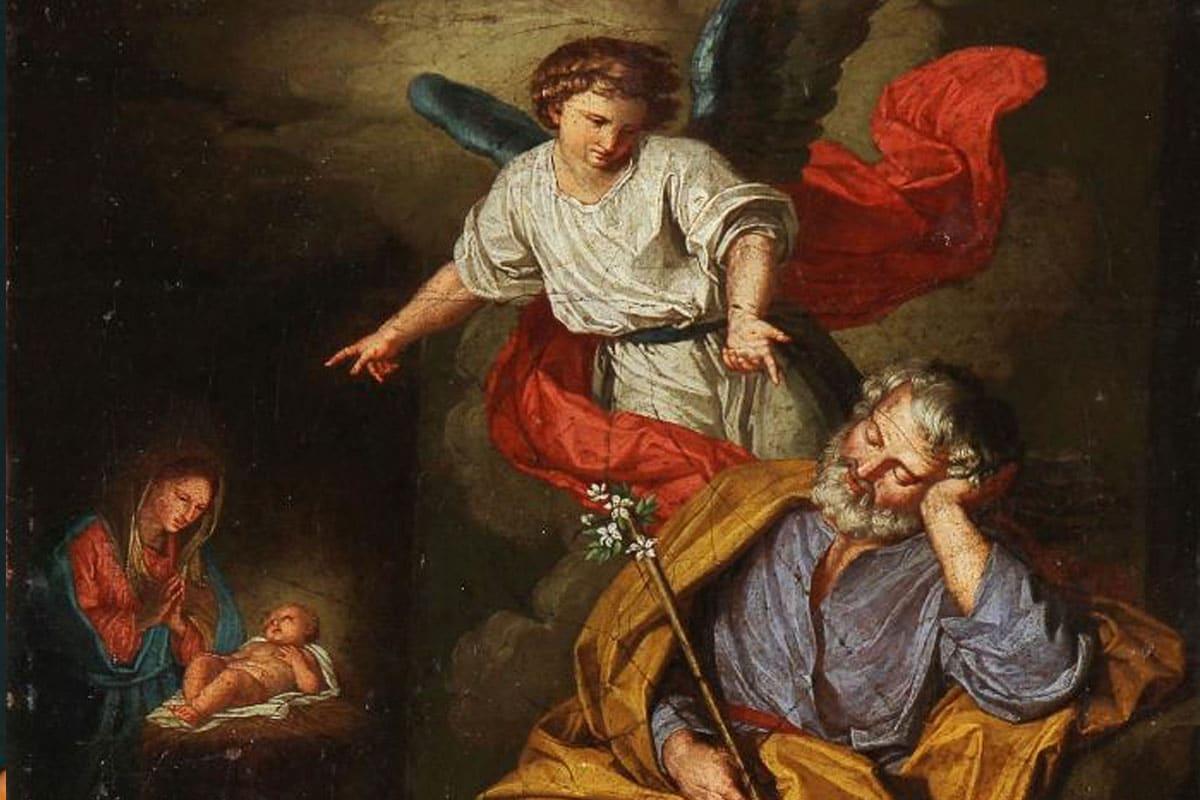 El ángel se aparece en sueños a San José