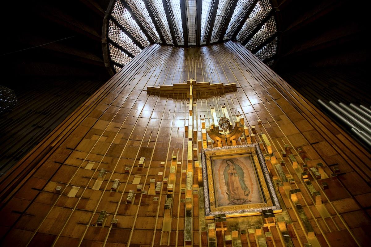 La tilma de San Juan Diego donde quedó plasmada la imagen Virgen de Guadalupe. Foto: María Langarica
