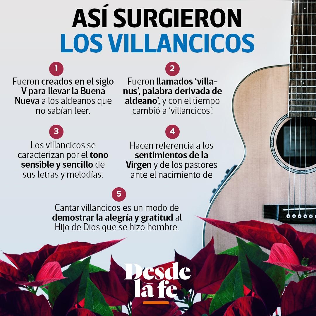 Los villancicos son canciones que anuncian esperanza por la llegada del Salvador.
