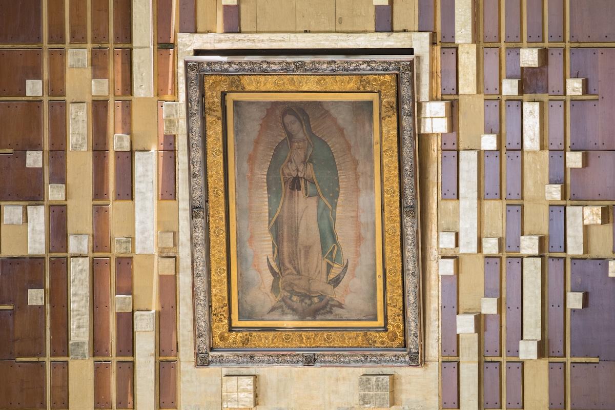 Imagen de la Virgen de Guadalupe. Foto: María Langarica