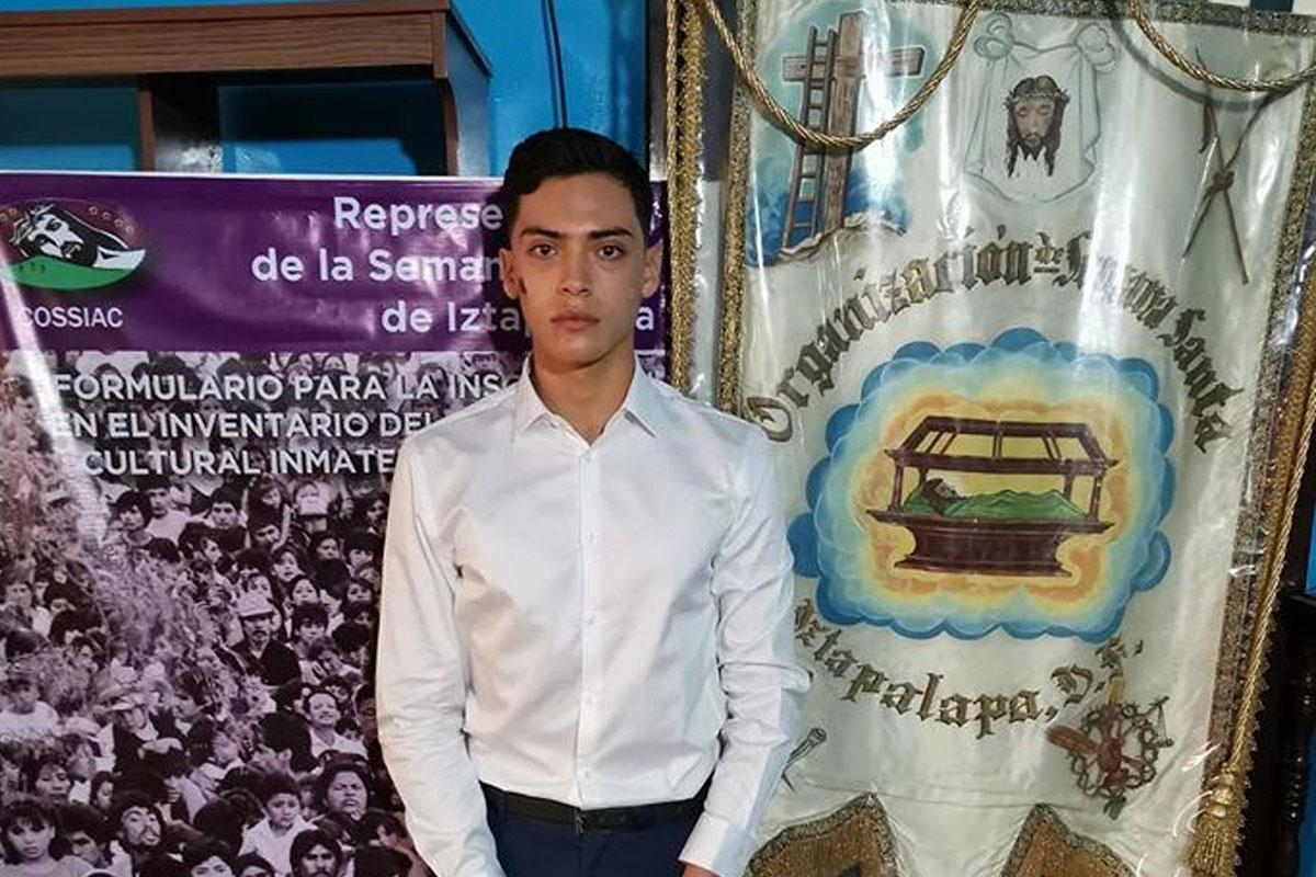 Mauricio Luna de 19 años fue electo como Jesús en la edición 177 de la Pasión de Iztapalapa. Foto: COSSIAC