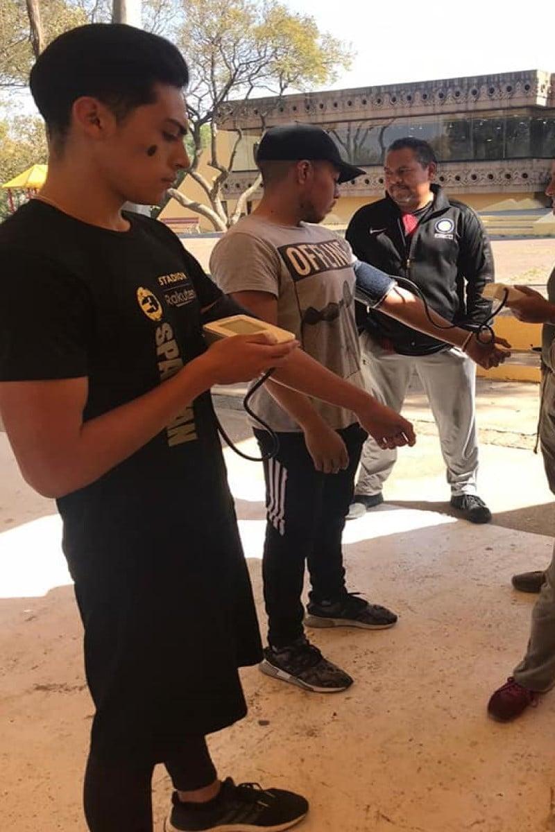 Mauricio Luna en una prueba física antes de ser elegido como el Cristo de Iztapalapa. Foto COSSIAC Facebook