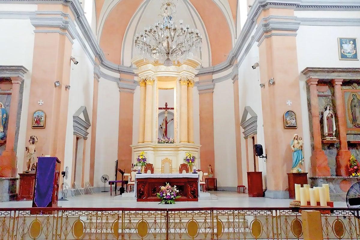 Interior de la Catedral de Veracruz.
