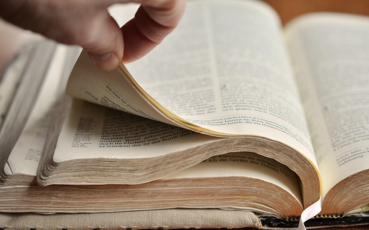 La Biblia es la Palabra de Dios. Foto: Pixabay