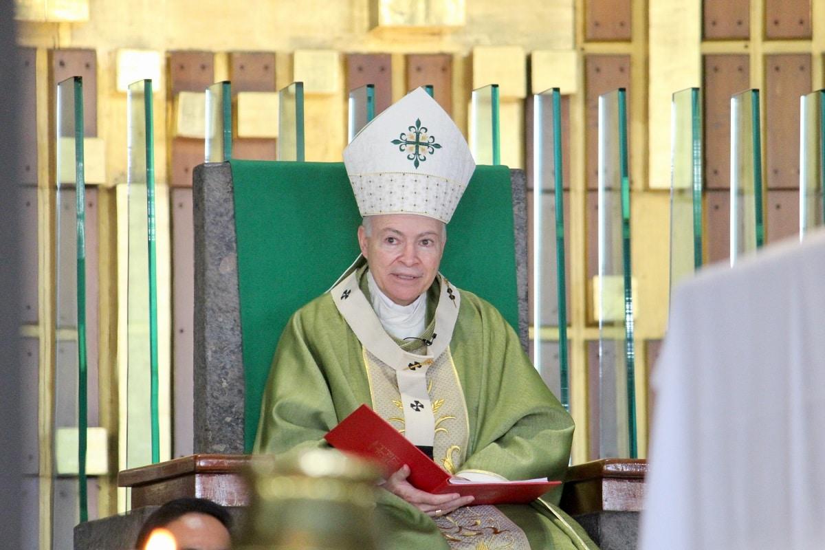 El Arzobispo Primado de México en la Basílica de Guadalupe. Foto: INBG/Cortesía.