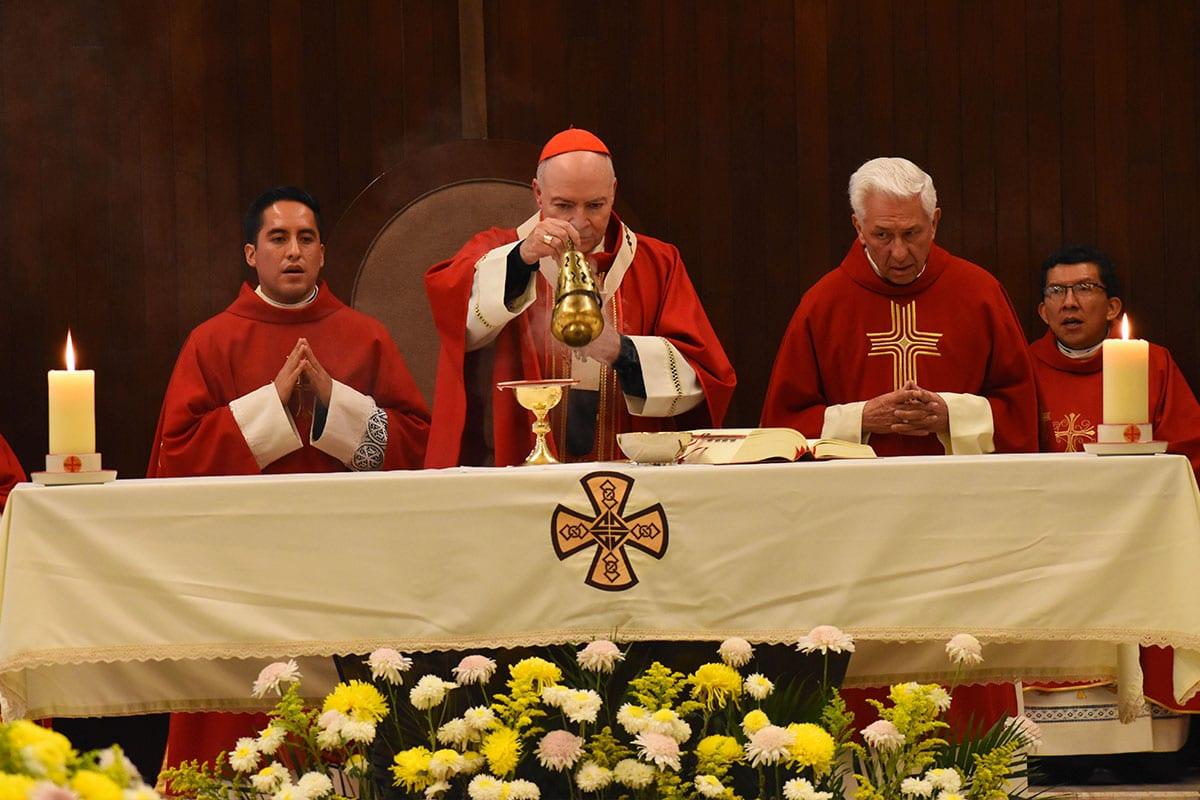 El Arzobispo Primado de México en la Misa. Foto: Ricardo Sánchez/DLF.