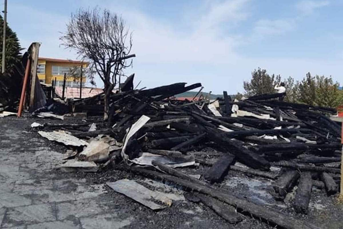Escombros de la iglesia de San Francisco de Acnud.