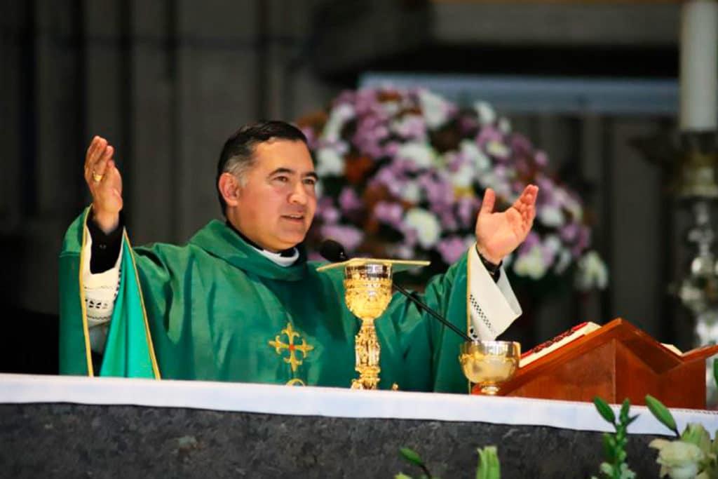 Monseñor Carlos Samaniego en la Misa de acción de gracias de Cielo Abierto. Foto Cortesía Cielo Abierto