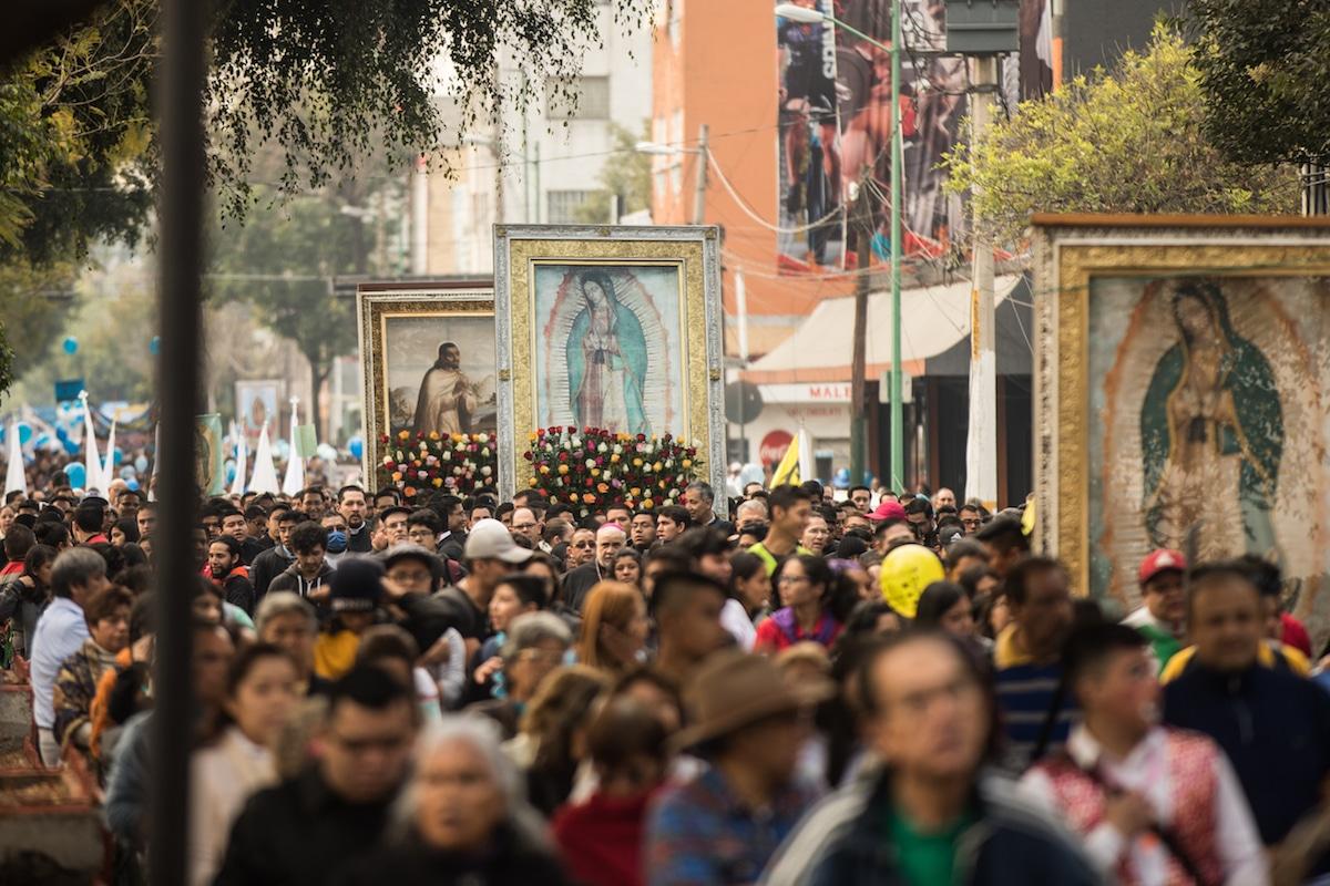 Peregrinación de la Arquidiócesis de México. Foto: María Langarica