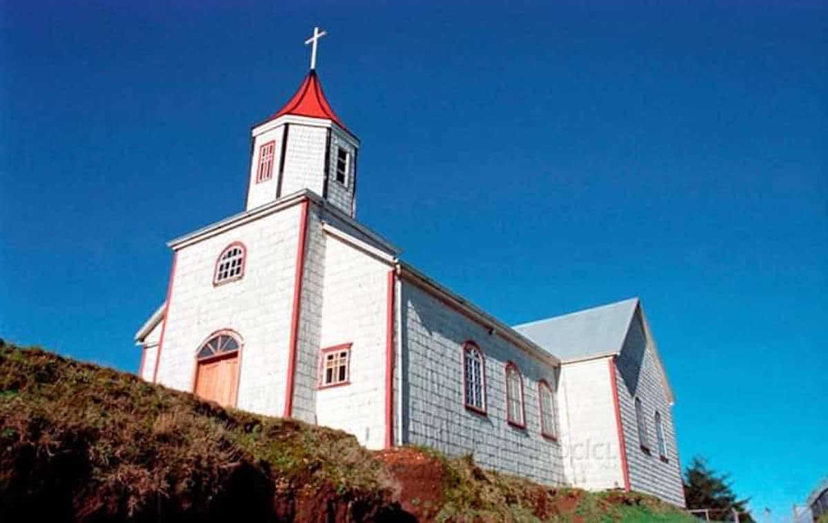 La iglesia de San Francisco de Acnud, en Chile.