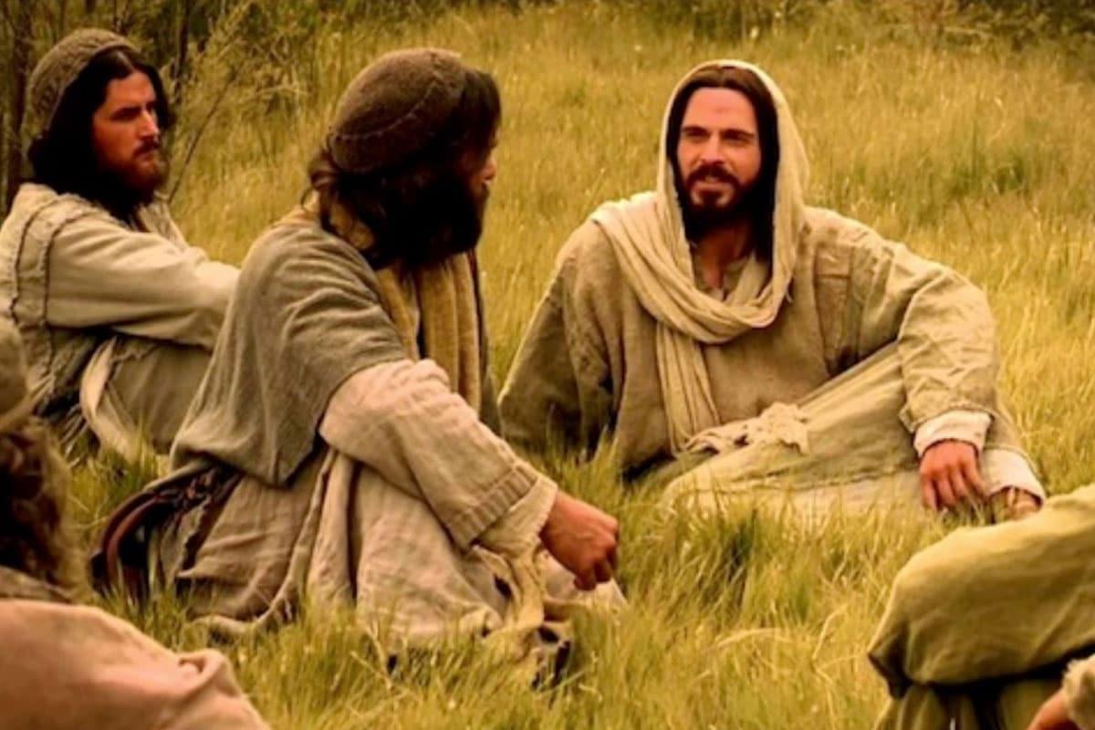 Jesús con sus discípulos