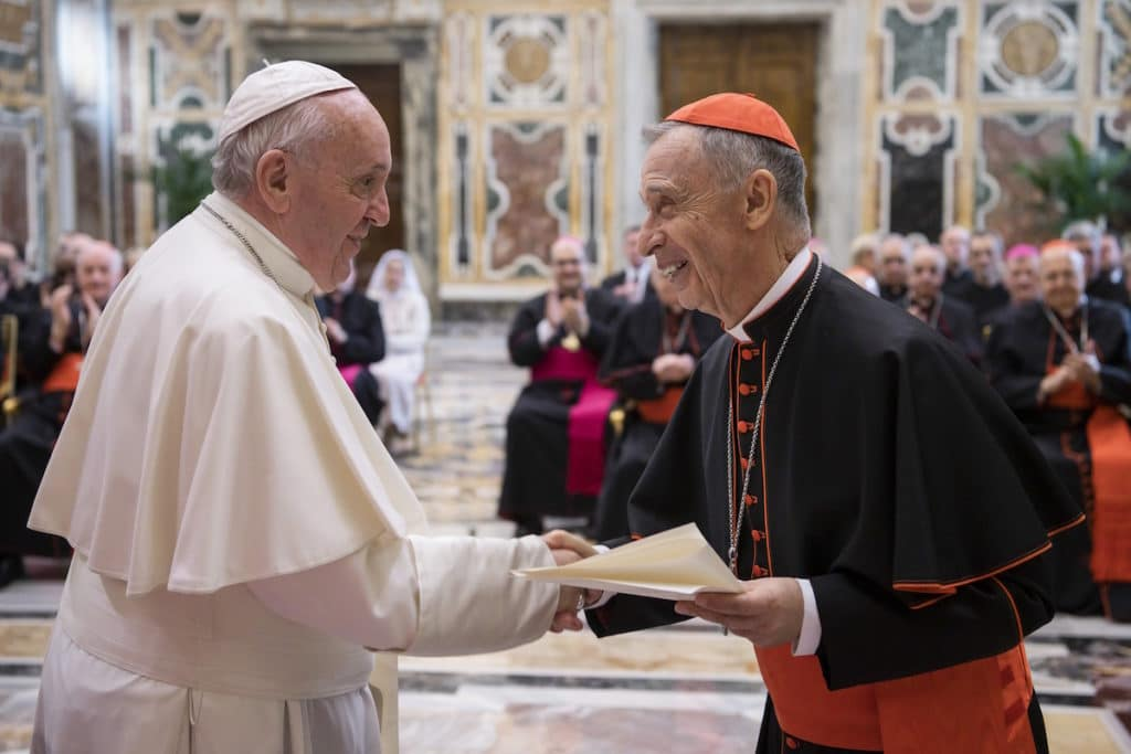 El Papa Francisco durante la reunión con la Congregación de la Doctrina de la Fe. Foto: L'Osservatore Romano