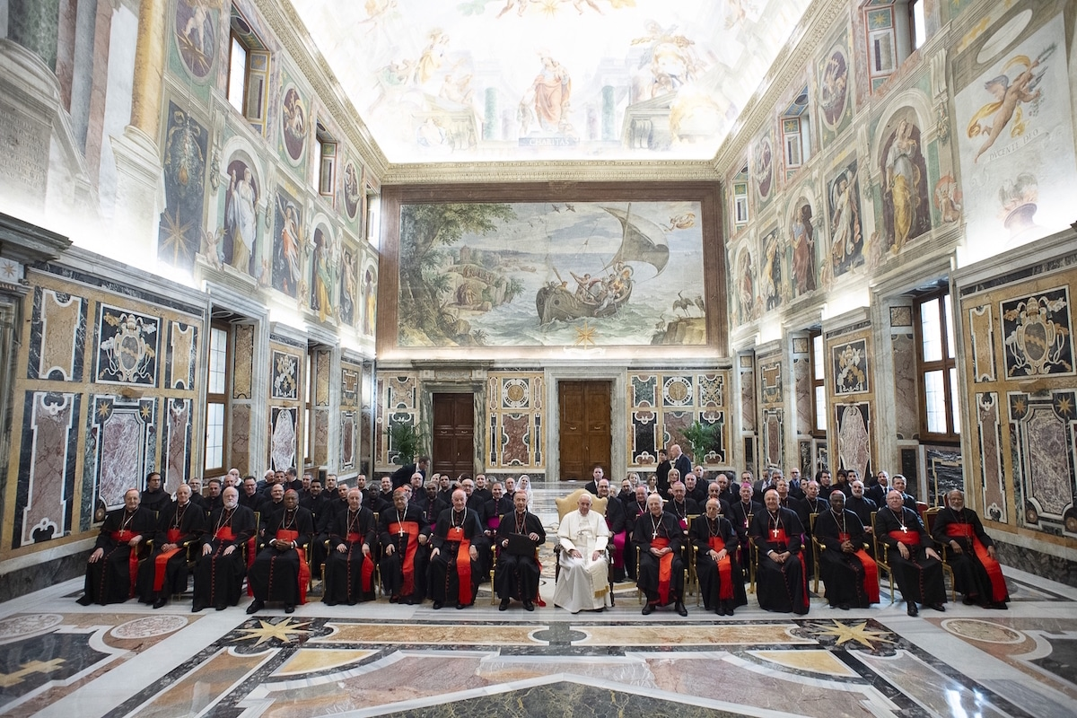 Reunión del Papa Francisco con la Congregación de la Doctrina de la Fe. Foto: L'Osservatore Romano