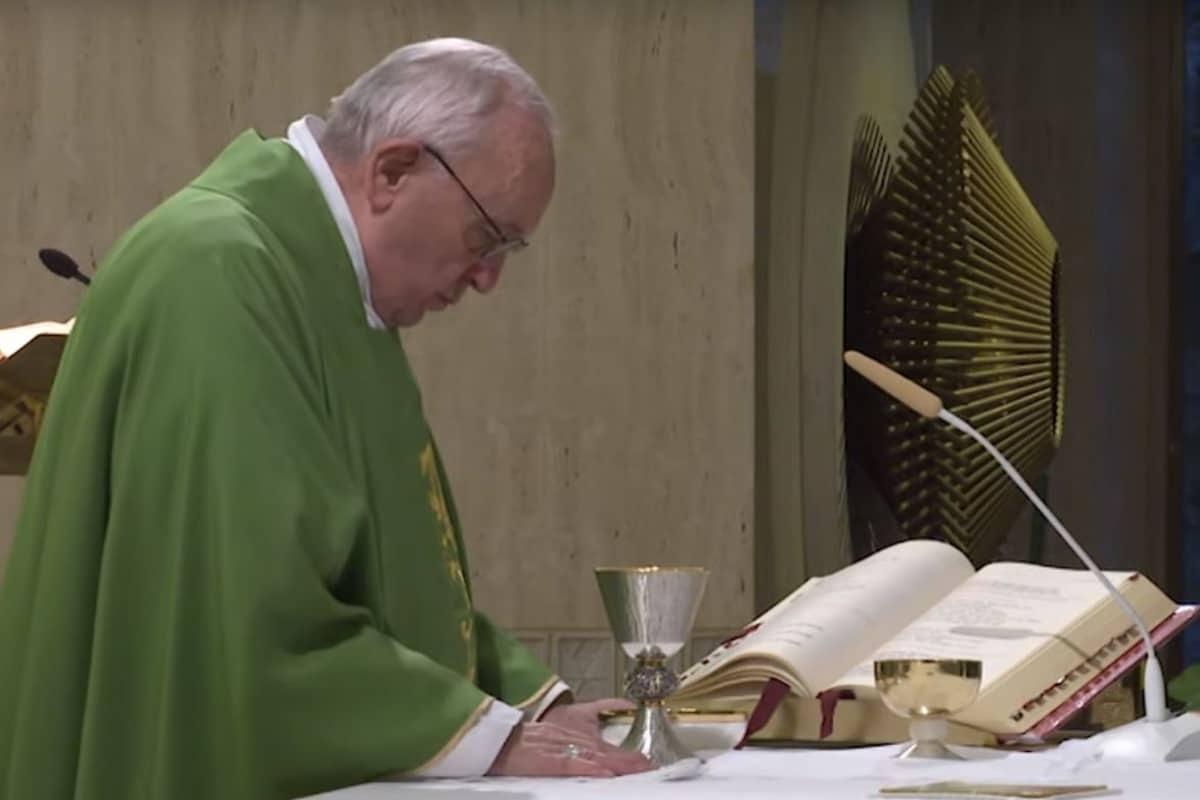 El Papa Francisco en la Misa de Santa Marta. Foto Vatican Media