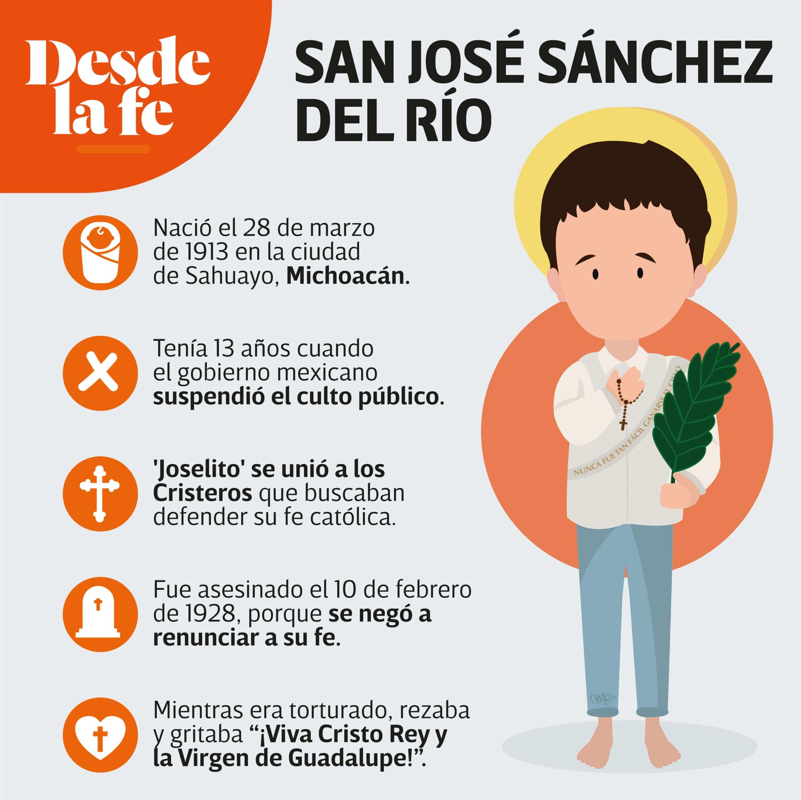 San José Sánchez del Río murió defendiendo su fe católica.