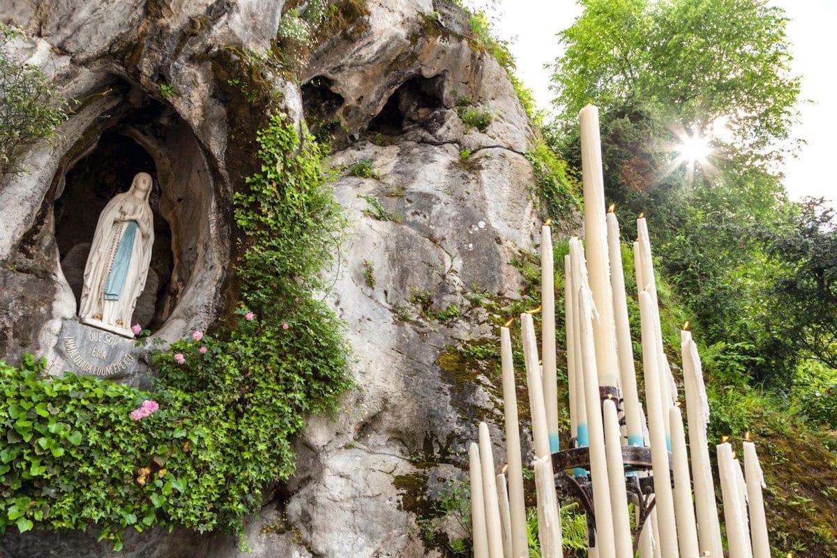 El Santuario de la Virgen de Lourdes.