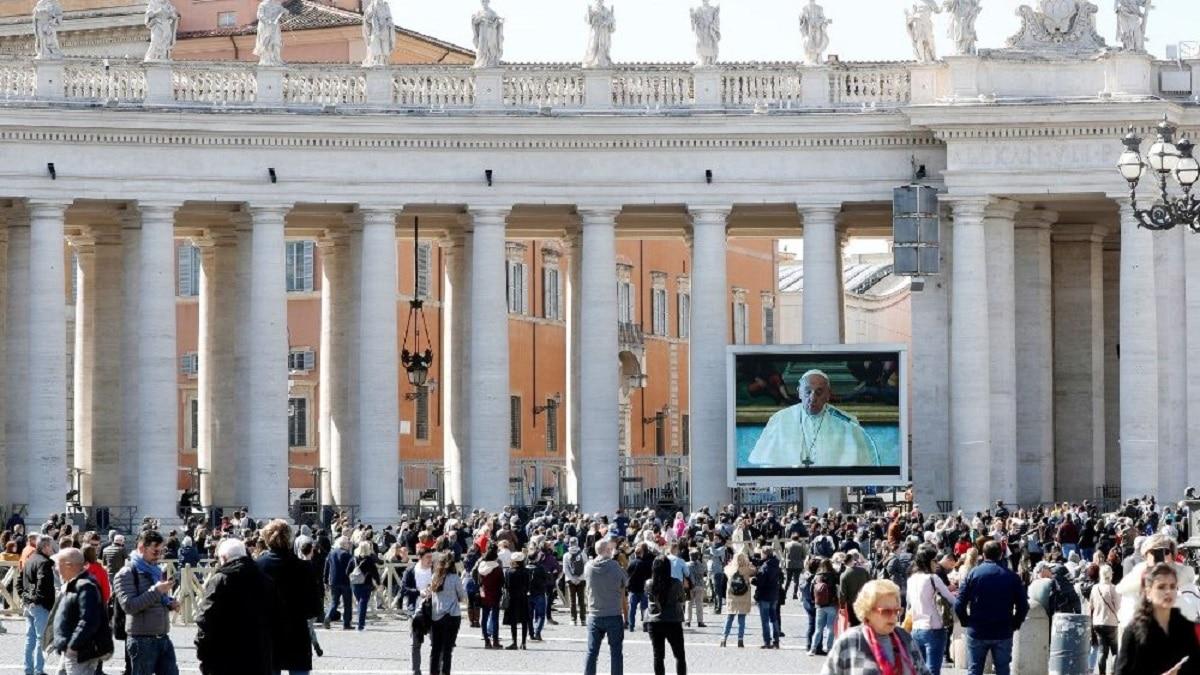 El Ángelus del 8 de marzo de 2020. Foto: Vatican News.