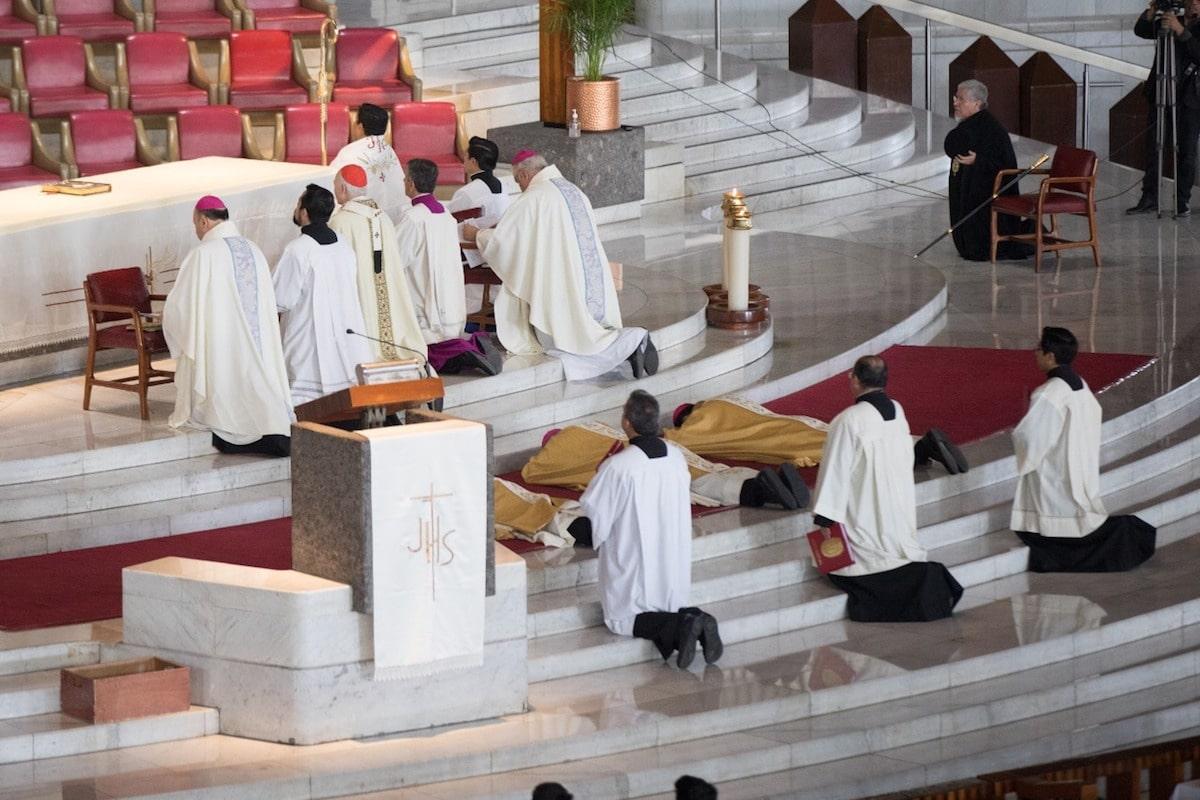 Ordenación episcopal de los nuevos obispos auxiliares. Foto: María Langarica