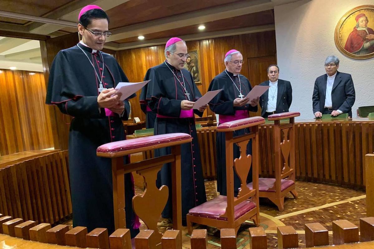 Los tres nuevos obispos auxiliares de la Arquidiócesis Primada de México.