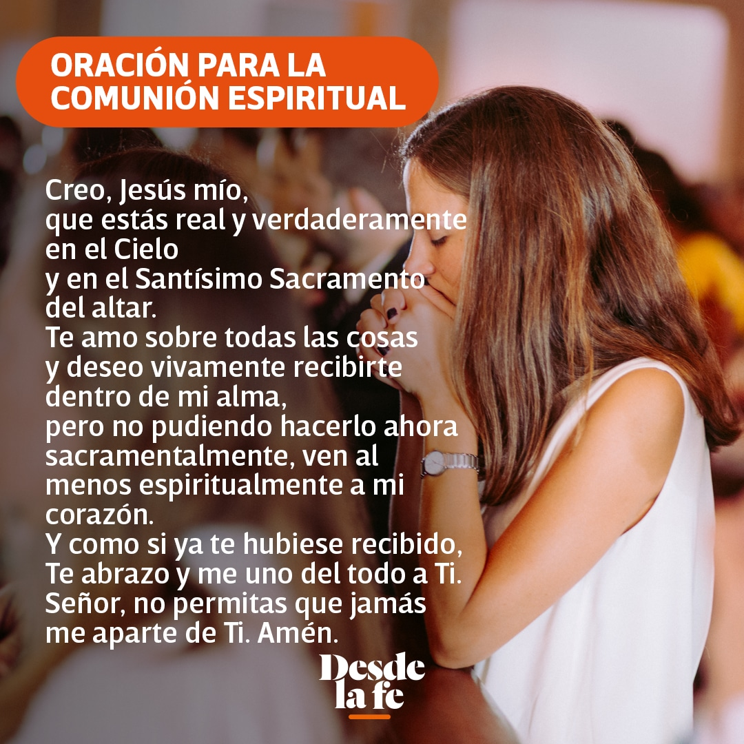 Oración para la Comunión Espiritual.