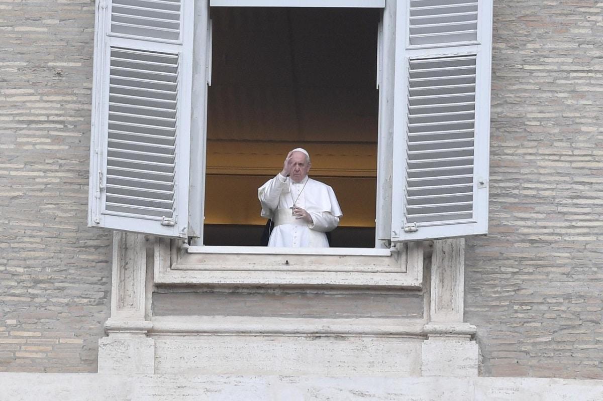 El Papa Francisco tras rezar el Ángelus del 29 de marzo de 2020. Foto: Vatican Media.