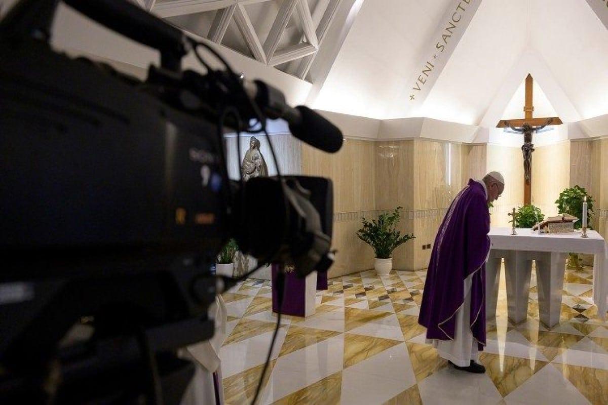 Papa transmite su quinta misa ante crisis de coronavirus. Foto Vatican News