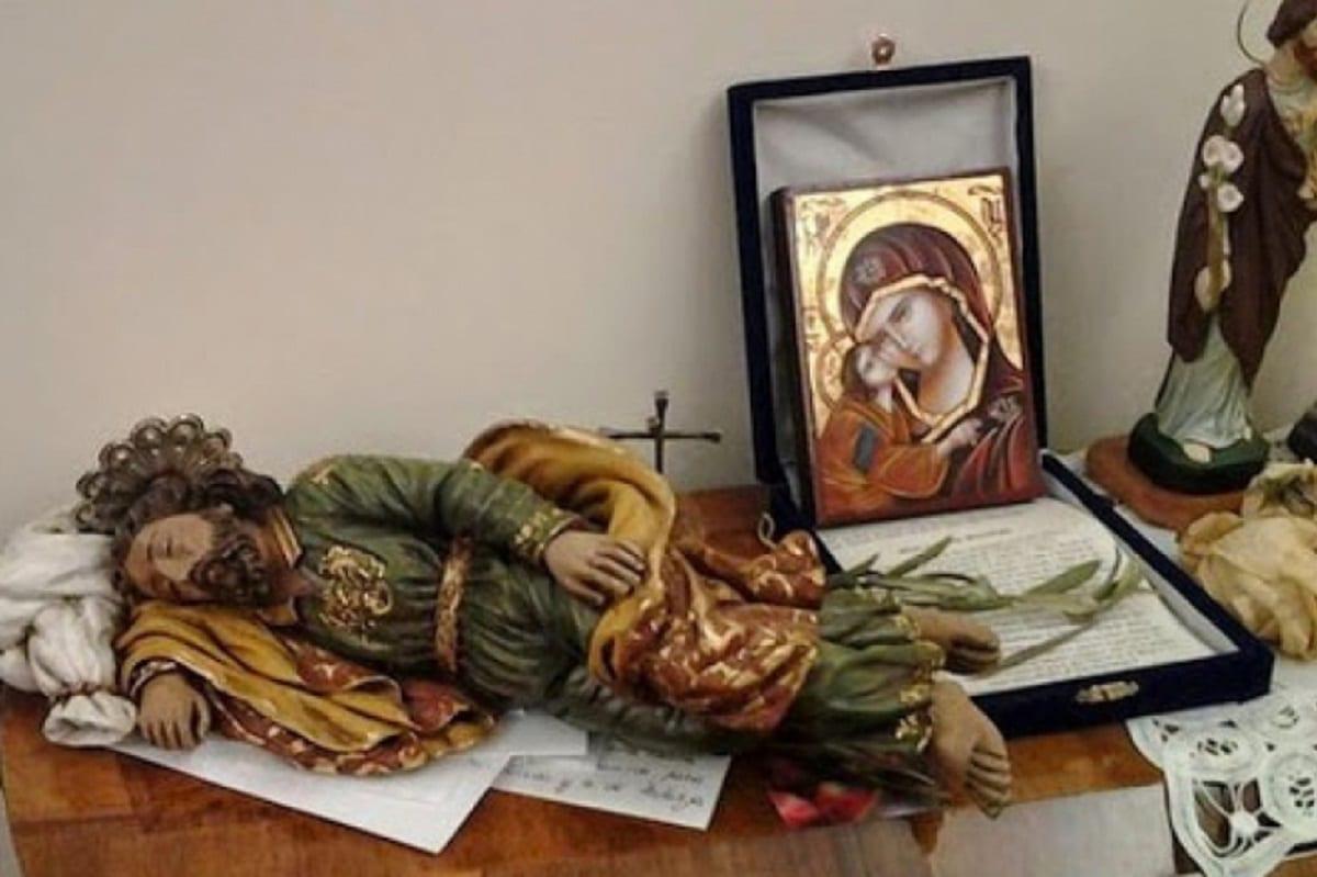 Imagen de San José Dormido en la habitación del Papa Francisco. Foto: Especial
