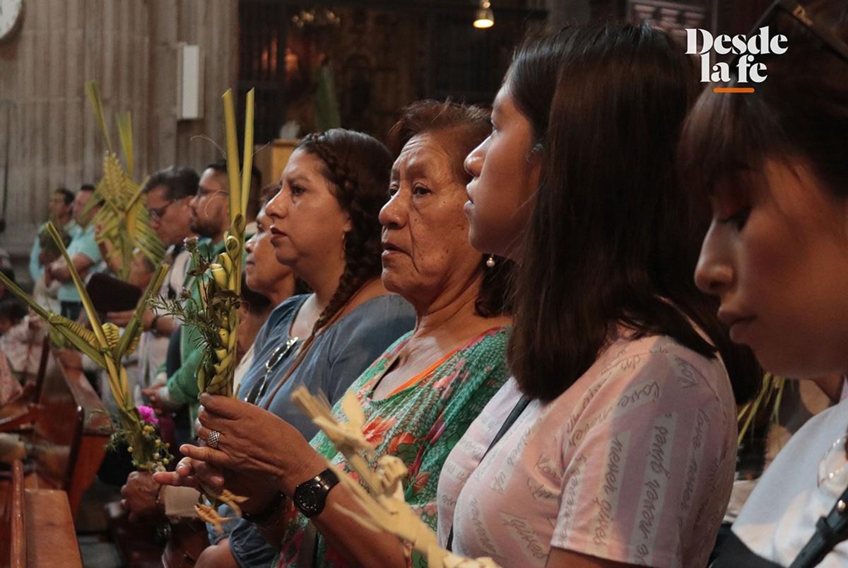 Domingo de Ramos en la Catedral Metropolitana en 2019. Foto: Ricardo Morales.