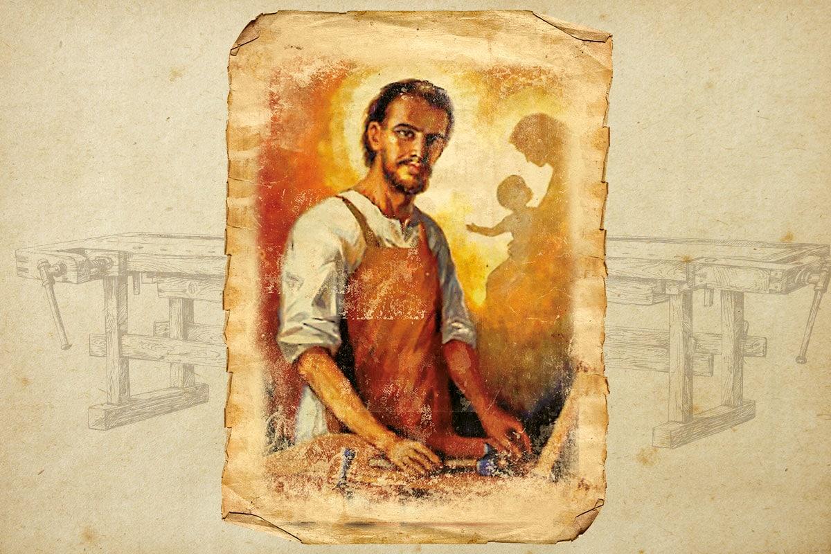 San José enseñó a Jesús las bondades del trabajo.