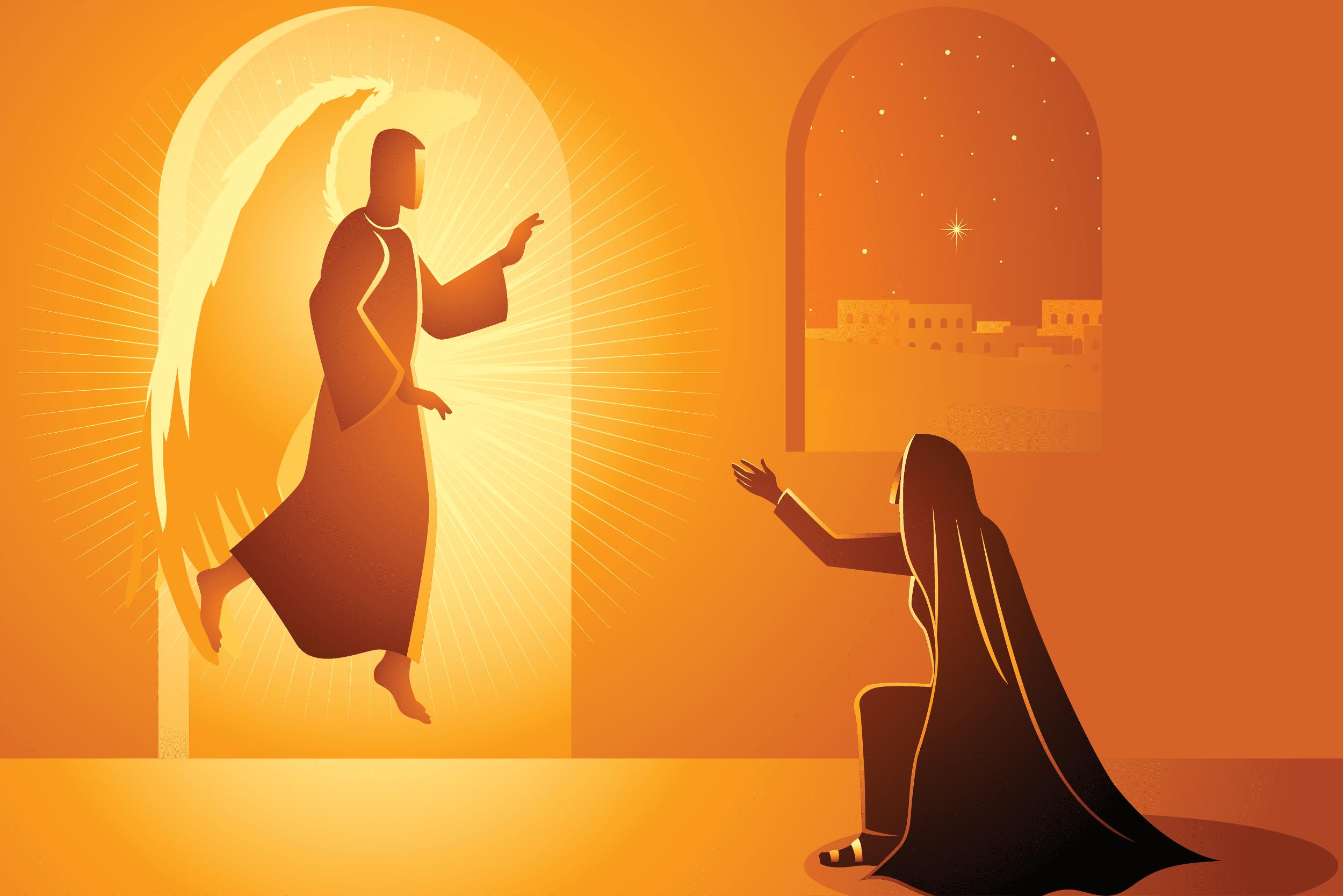 La Encarnación del Hijo de Dios. Ilustración: Martín Cuéllar.