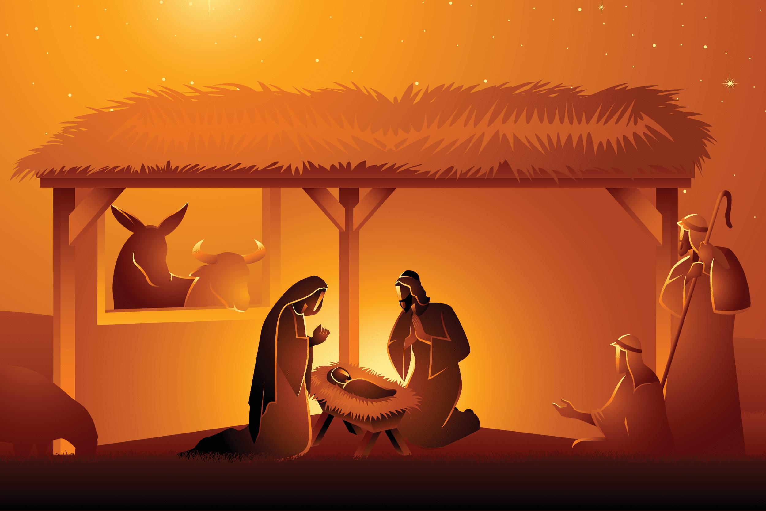 El Nacimiento del Hijo de Dios. Ilustración: Martín Cuéllar.