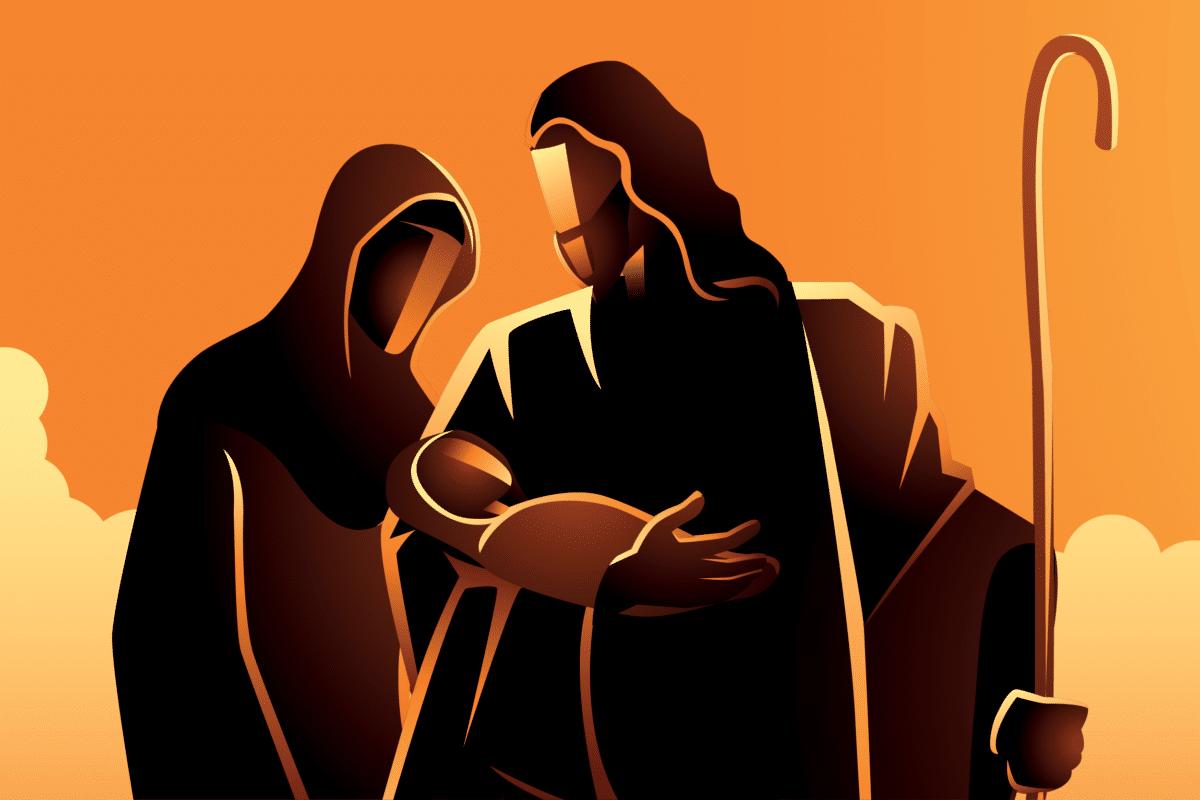 La Presentación de Jesús al Templo. Ilustración: Martín Cuéllar.